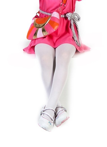 Pierre Cardin Kız Çocuk   Külotlu Çorap 230-000051 Beyaz